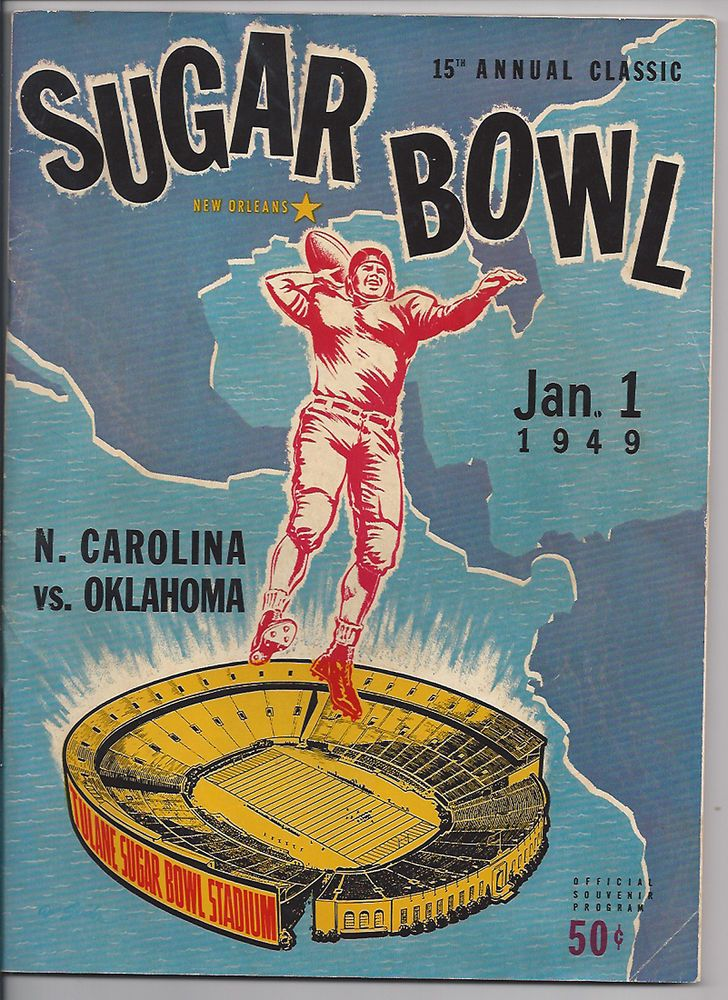 1949 Oklahoma vs North Carolina original Sugar Bowl