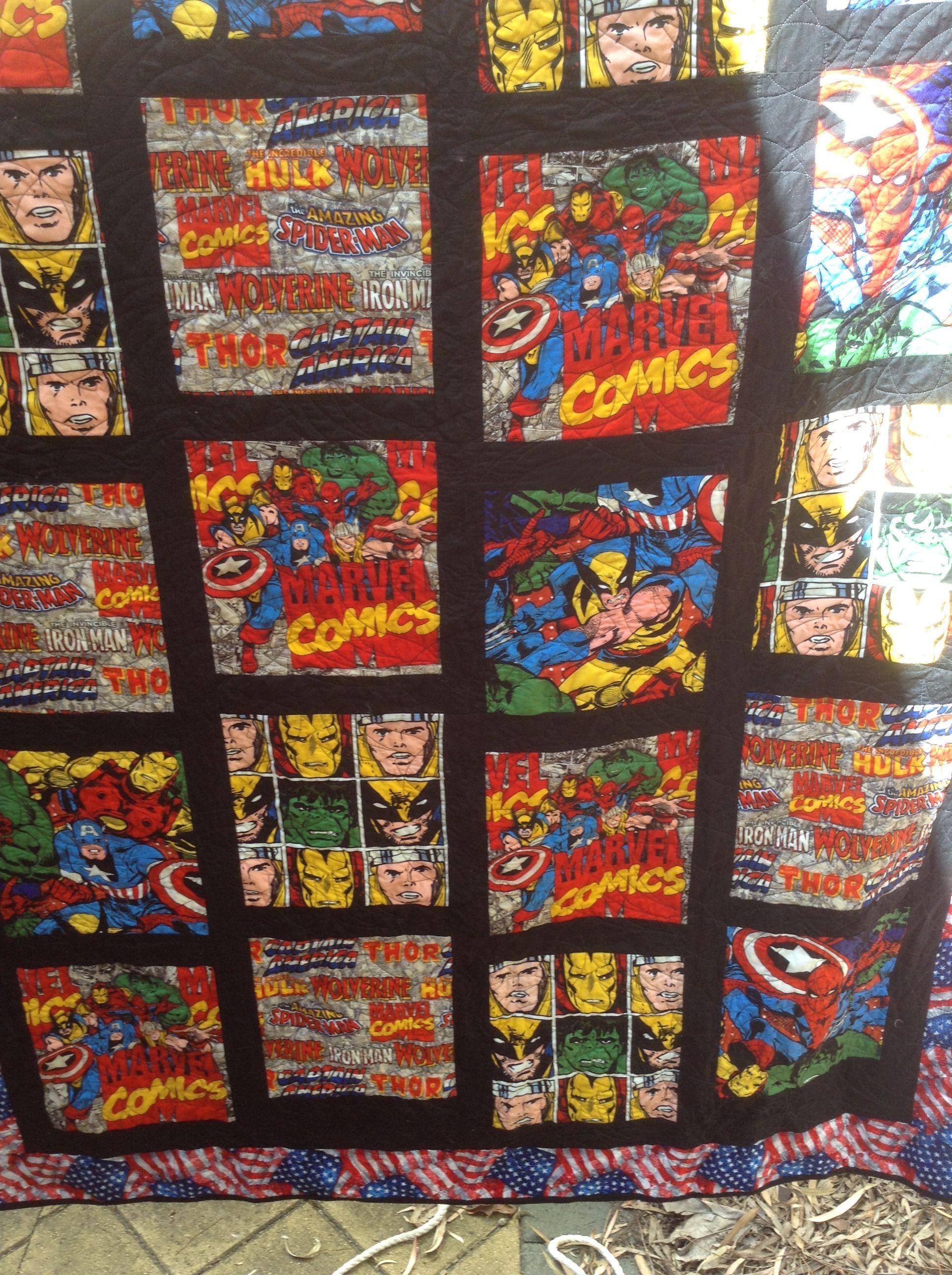 Steve's Marvel quilt | quilts | Pinterest | Superhero quilt, Kid ... : marvel quilt - Adamdwight.com