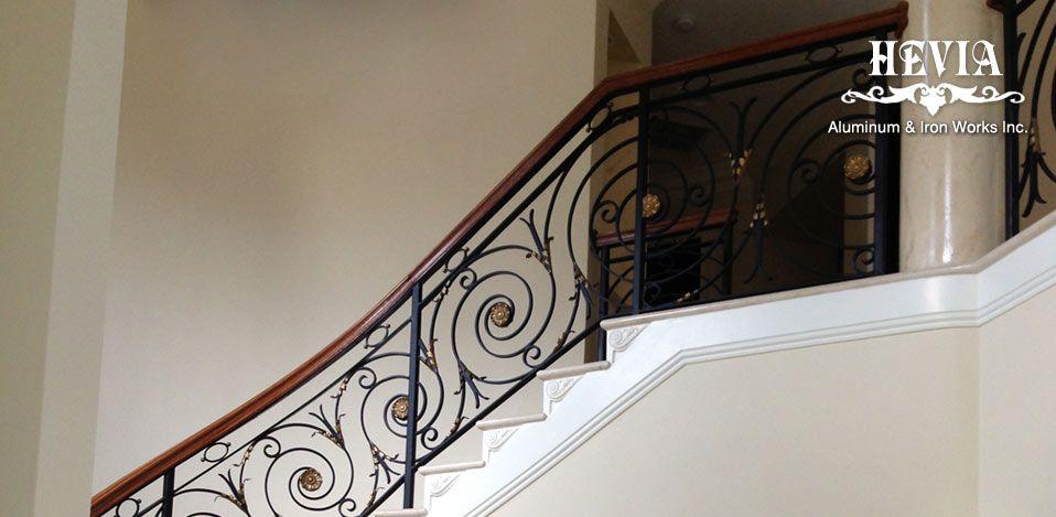Indoor Stair Railings Part - 36: Beautiful Indoor Stair Railing #8 Indoor Iron Stair Railing