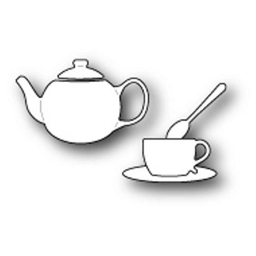 POPPYSTAMPS - Metal Craft Dies, DAINTY TEA SET