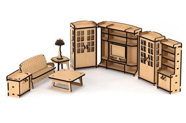 набор мебели гостиная для домика венеция Laser Cutter