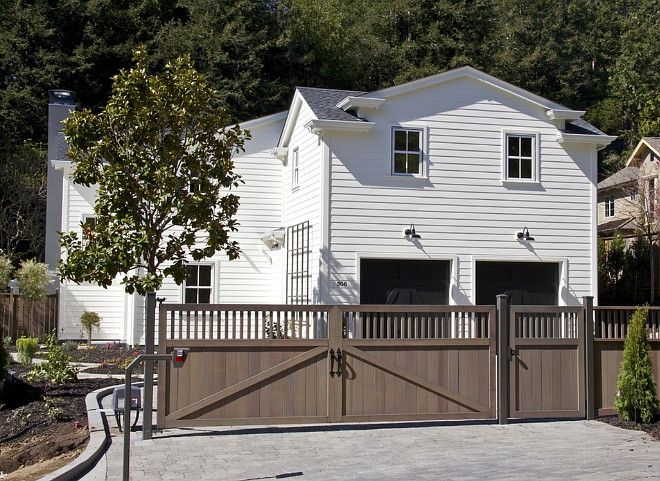house body is painted with benjamin moore white chocolate garage