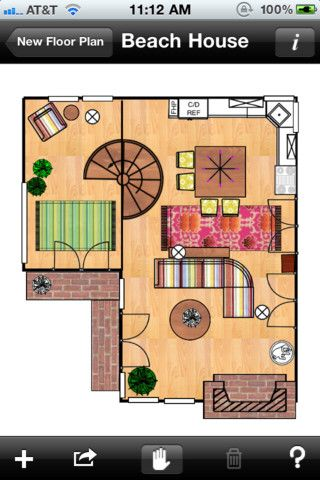 Home Design Interior Space Planning Tool - Mark On Call for iPhone ...