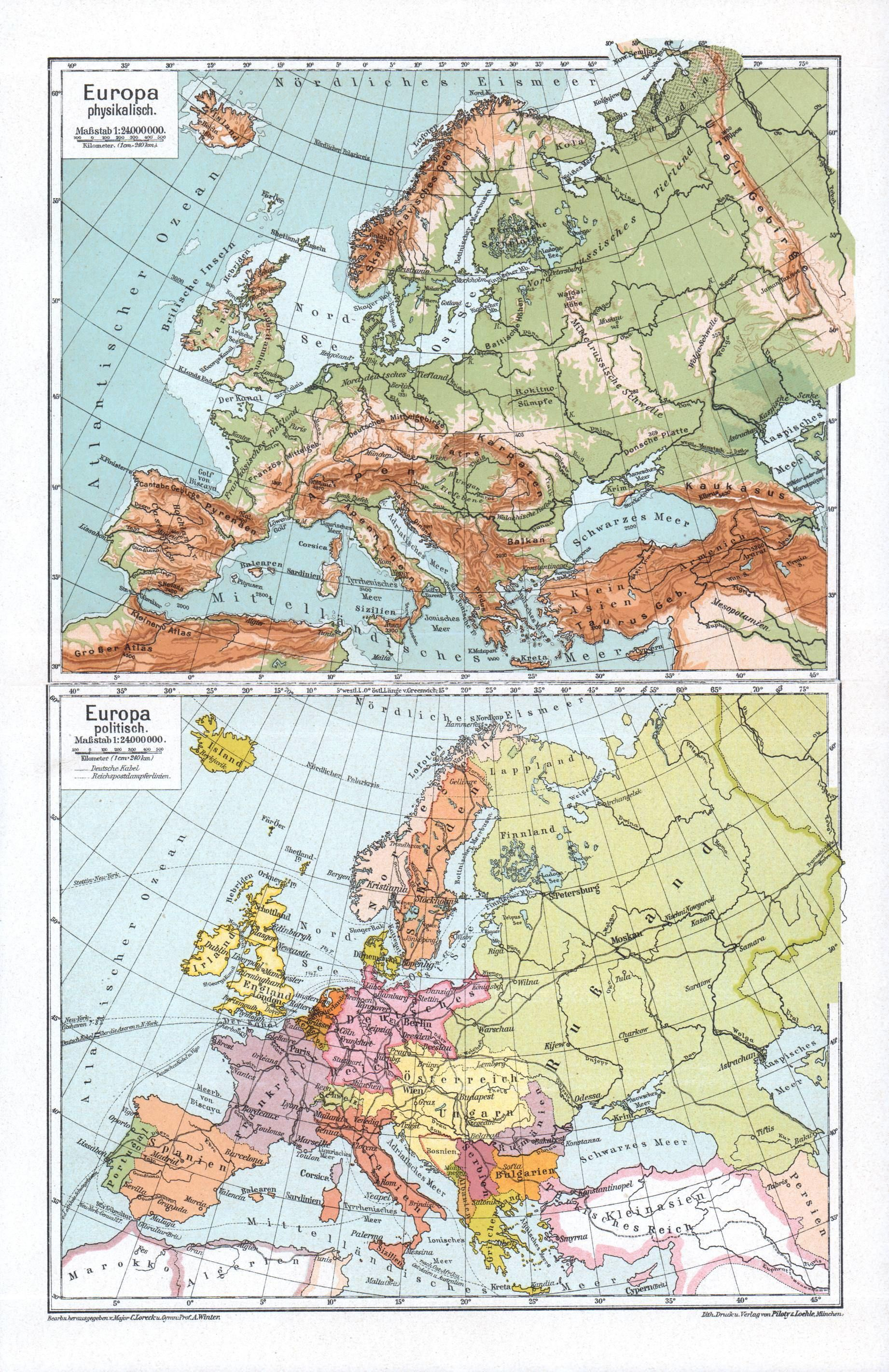 German Map Of Europe, 1913 | mapmania | Pinterest | Map, Europe and ...
