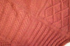 From Knitty Gritty's All About Aran Afghan's Pattern Notes: