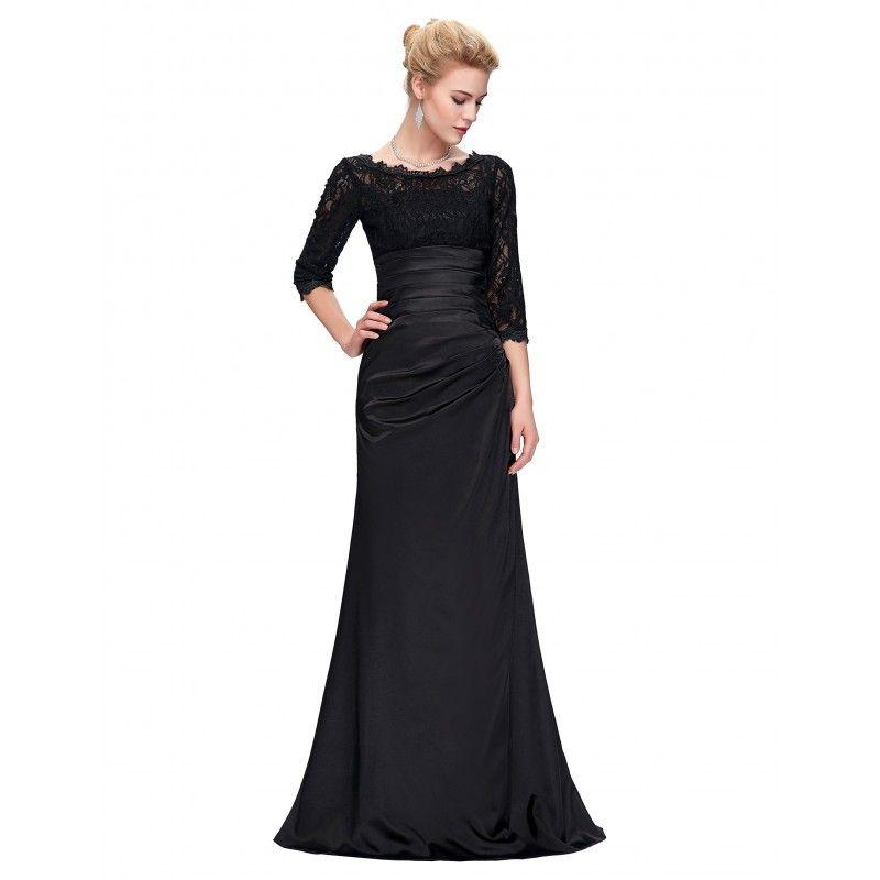 Čierne spoločenské šaty CL4524  06e5c18c32