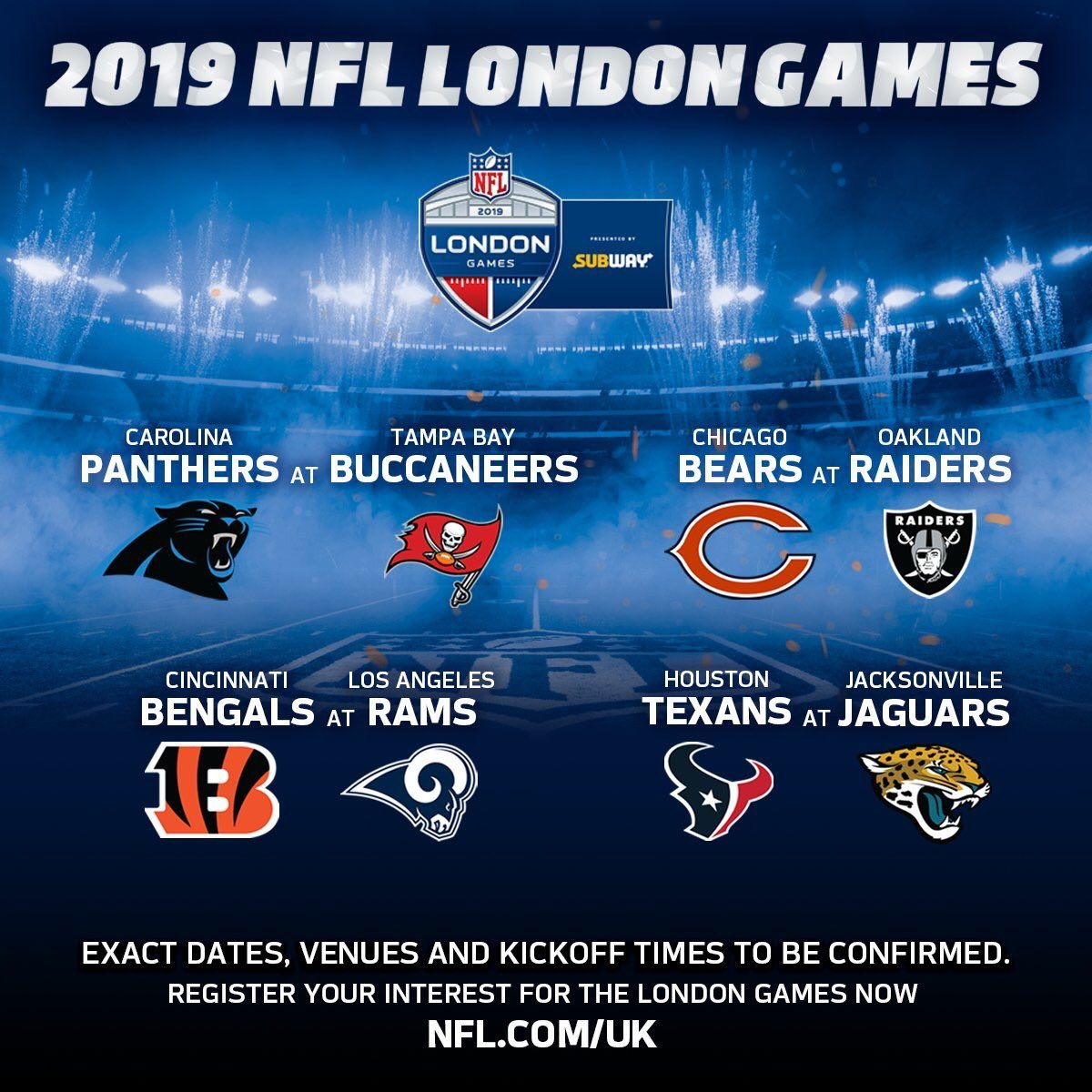 Twitter Nfl London National Football League Subway Game
