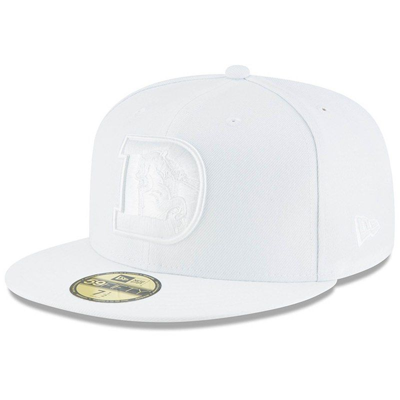 dbd044f5e4d Denver Broncos New Era White on White 59FIFTY Fitted Hat