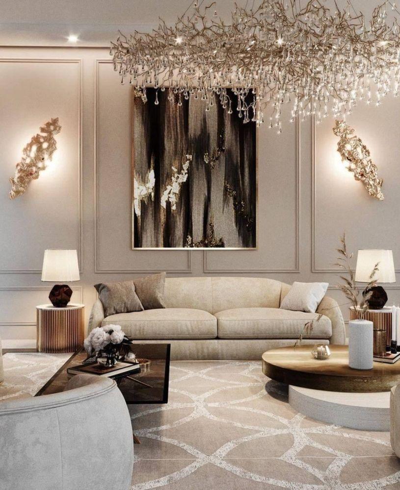neutral modern classic living room in 2020  modern