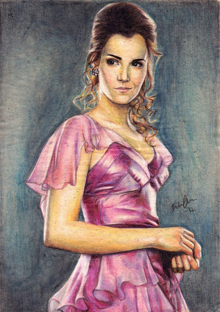 Hermione on the Yule ball by on