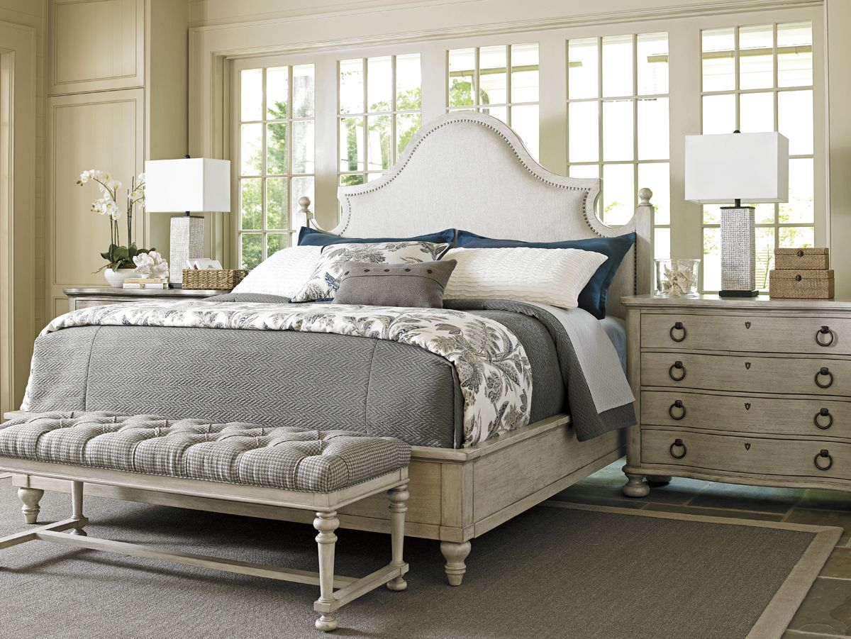 Upholstered Headboard with Nailhead Trim by Lexington