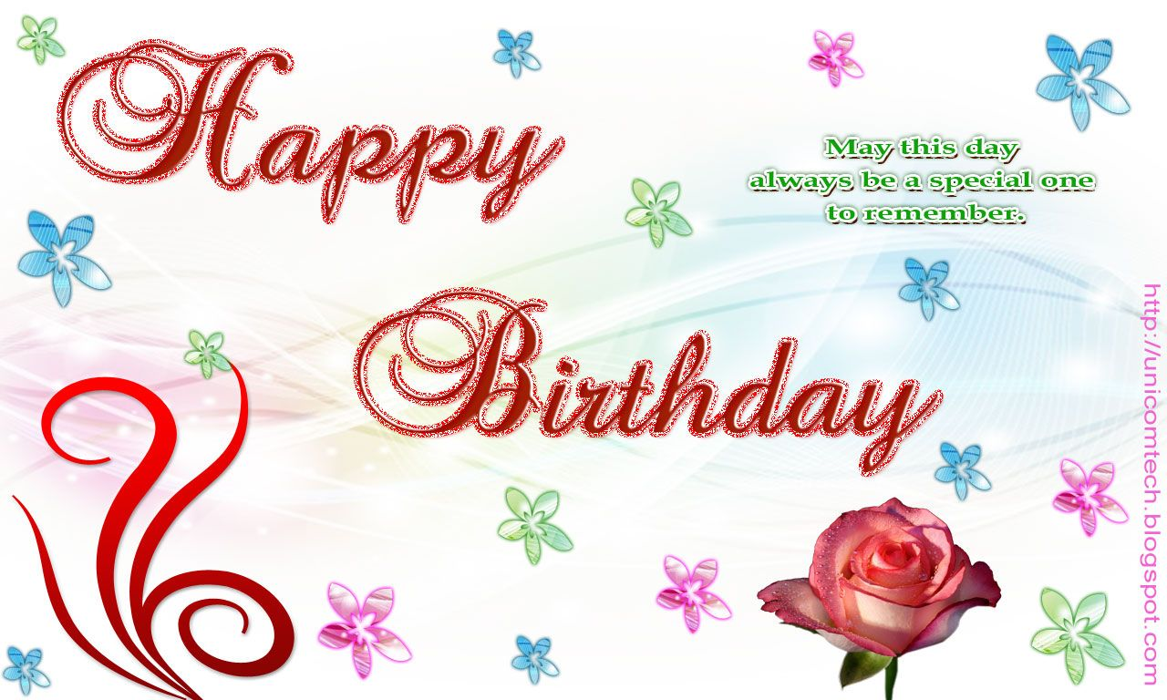 Happy birthday may this day always be special one to remembers happy birthday card wallpapers and backgrounds m4hsunfo