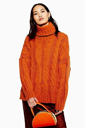 7a0ccd9dec0dfa Chunky Cable Roll Neck Jumper in 2019 | Products | Roll neck jumpers ...