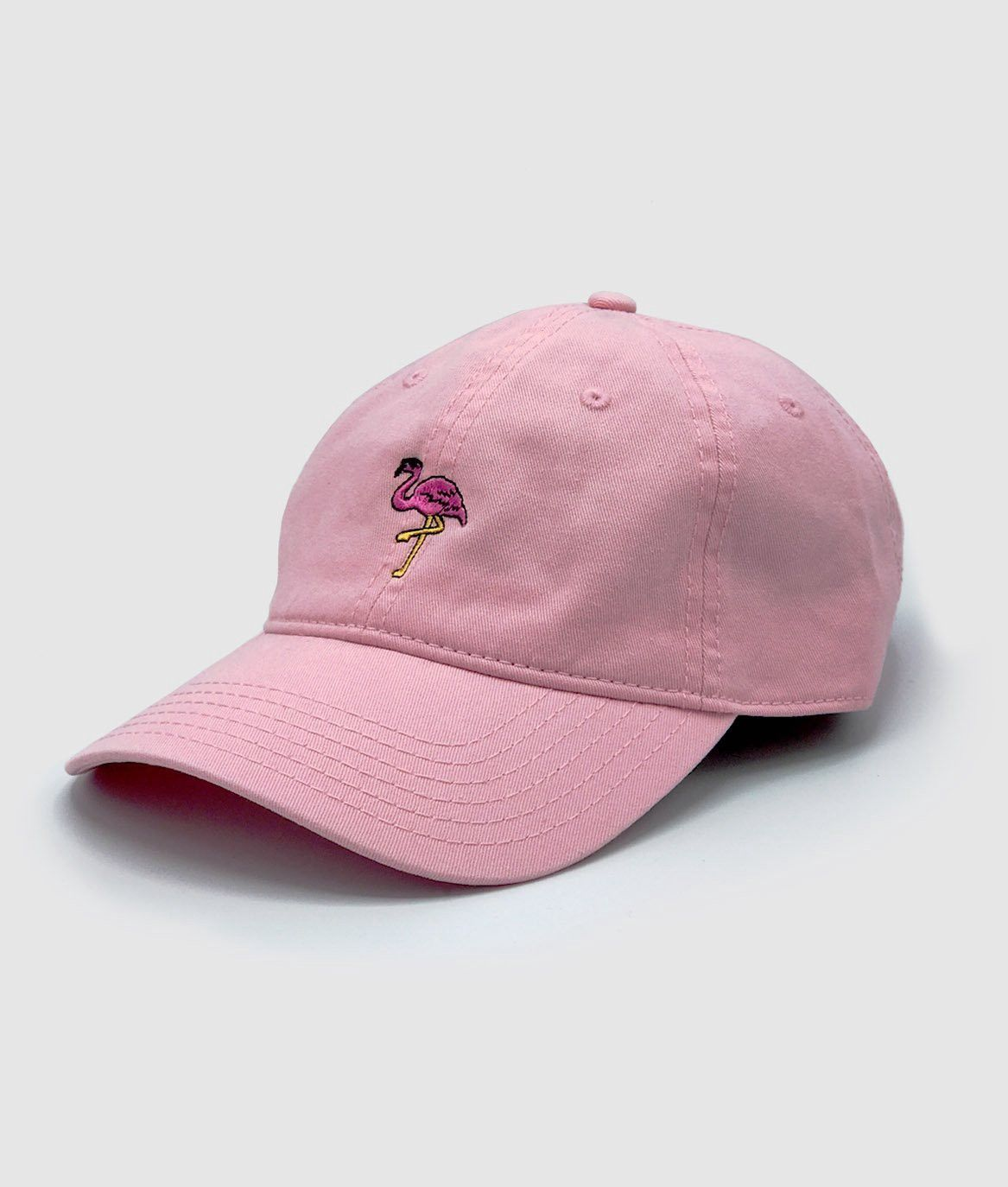 bfa9546d58e Riot Society Flamingo Embroidered Womens Dad Hat - White Os