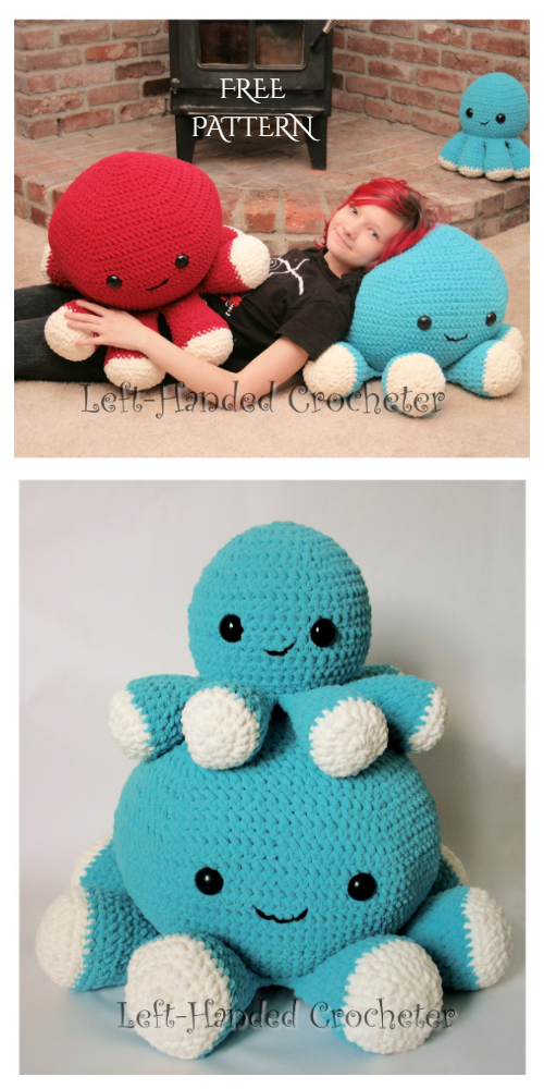 Photo of Amigurumi Giant Octopus Pillow Free Crochet Patterns – DIY Magazine