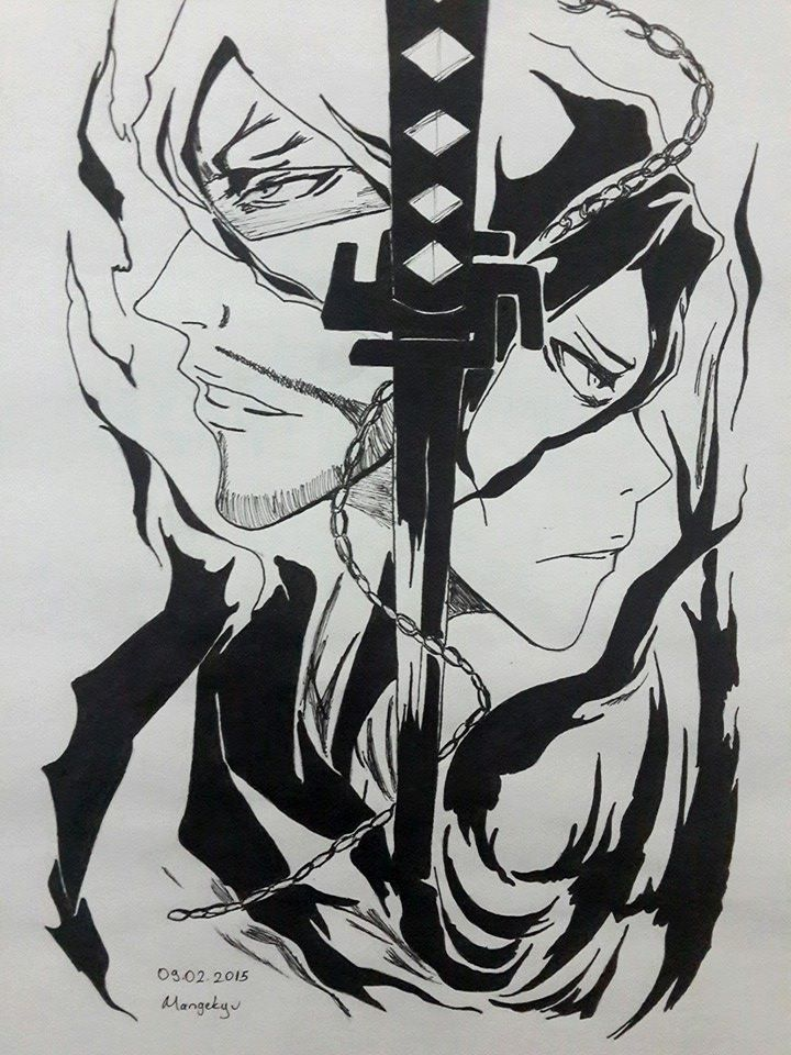 Zangetsu Tensa Zangetsu Manga Bleach Tatuagens De Anime Desenho De Anime