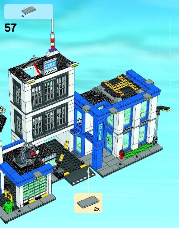 Lego Police Station Instructions 60047 City Lego City Police Station Lego City Police Lego Police Station