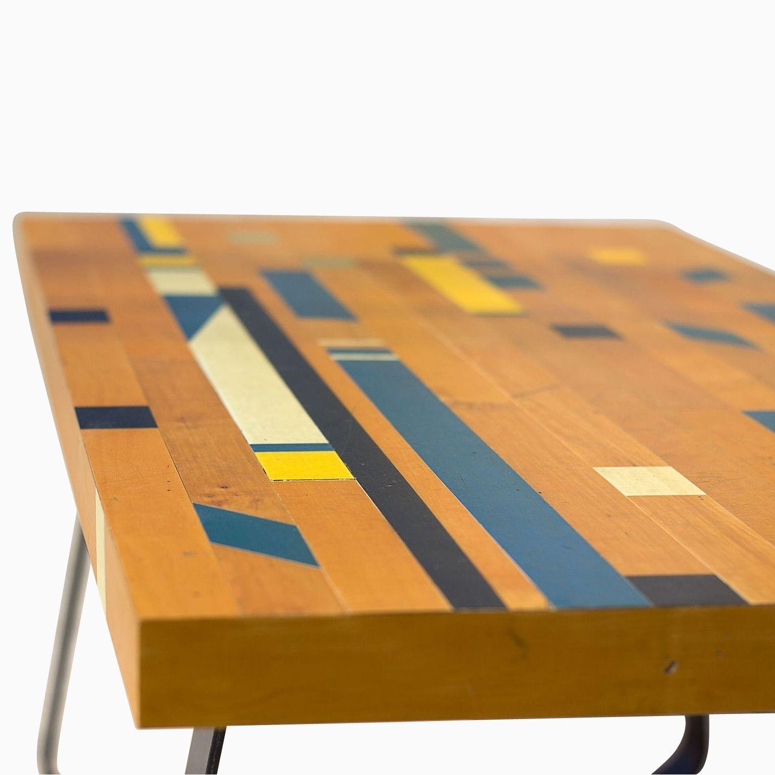 Custom Made Reclaimed Gym Floor Coffee Table