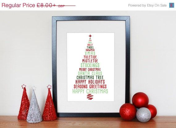 XMAS IN AUGUST  25% Off  Customisable Christmas Tree by GWPrints