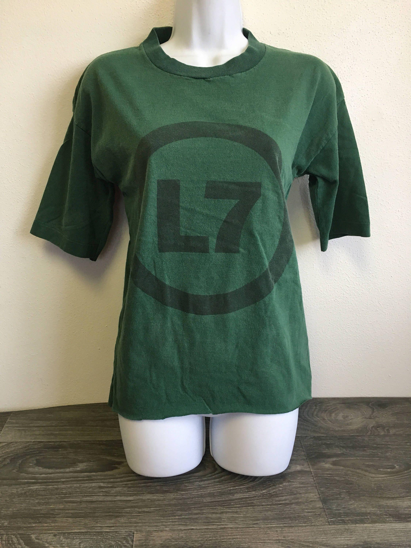 L7 vintage band tshirt diy 80s grunge punk rock shirt