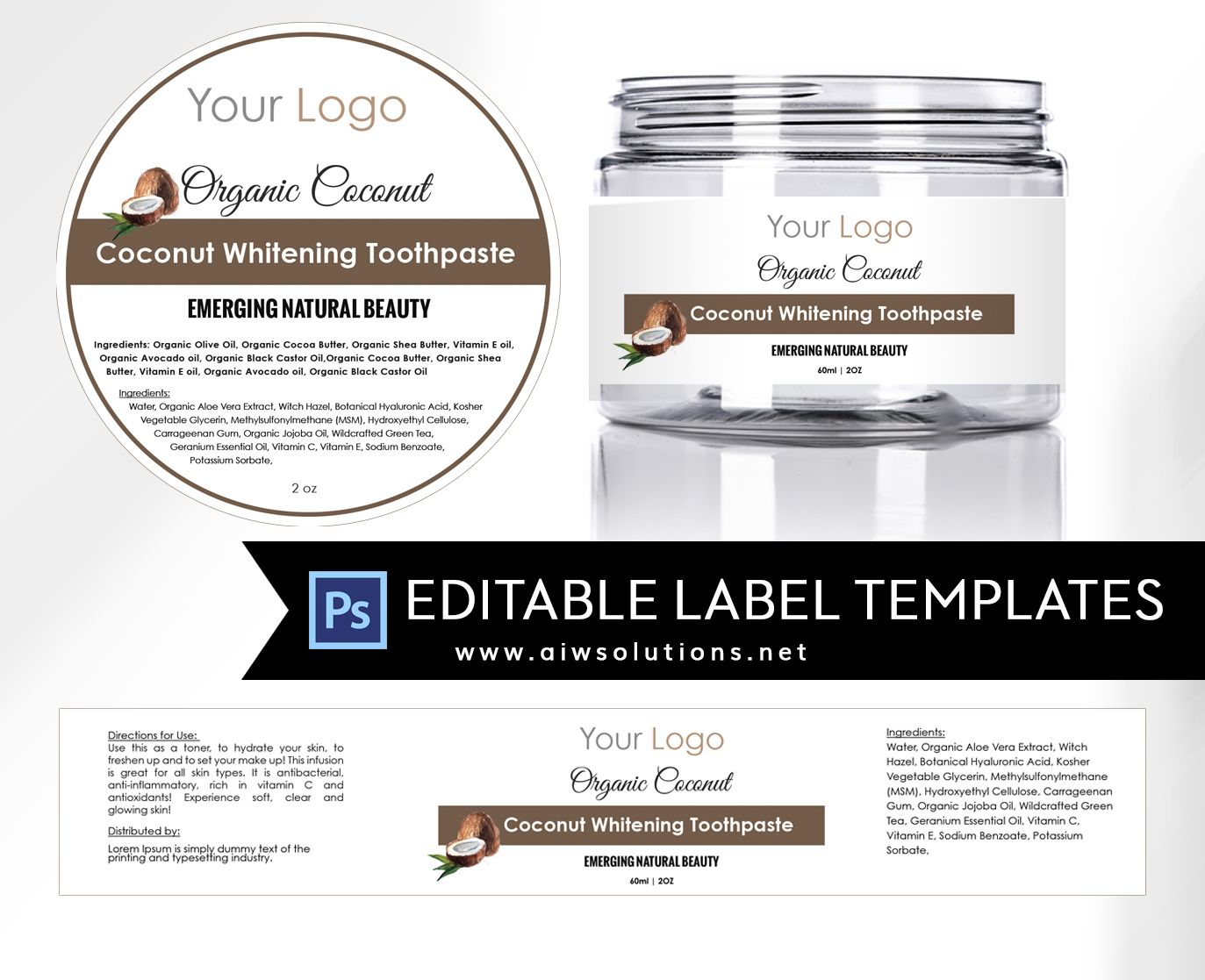 Label Template Id  Label Templates Cosmetic Labels And Lip