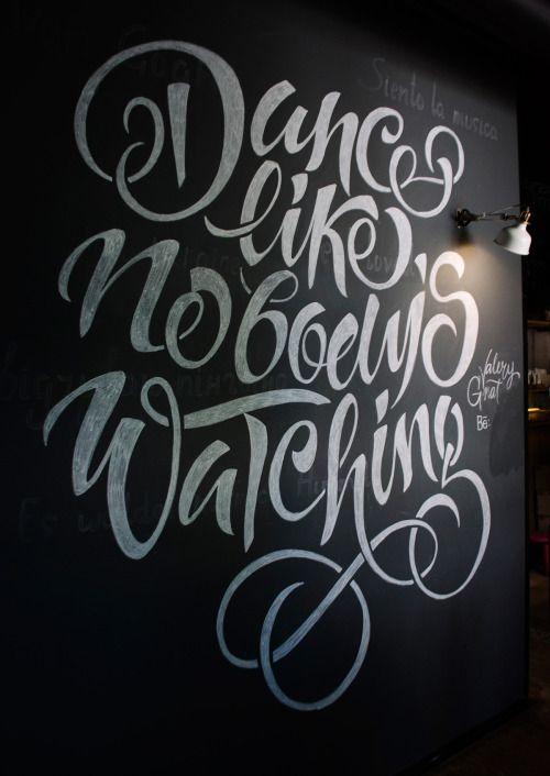Lettering artwork for 'I feel espresso bar'...