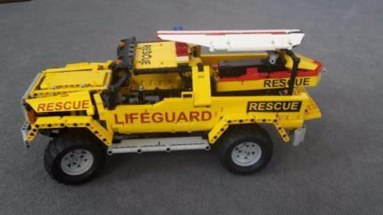 Lego Technic Pickup Baywatch Mit Jet Ski 42043 42029 8110 9398 In
