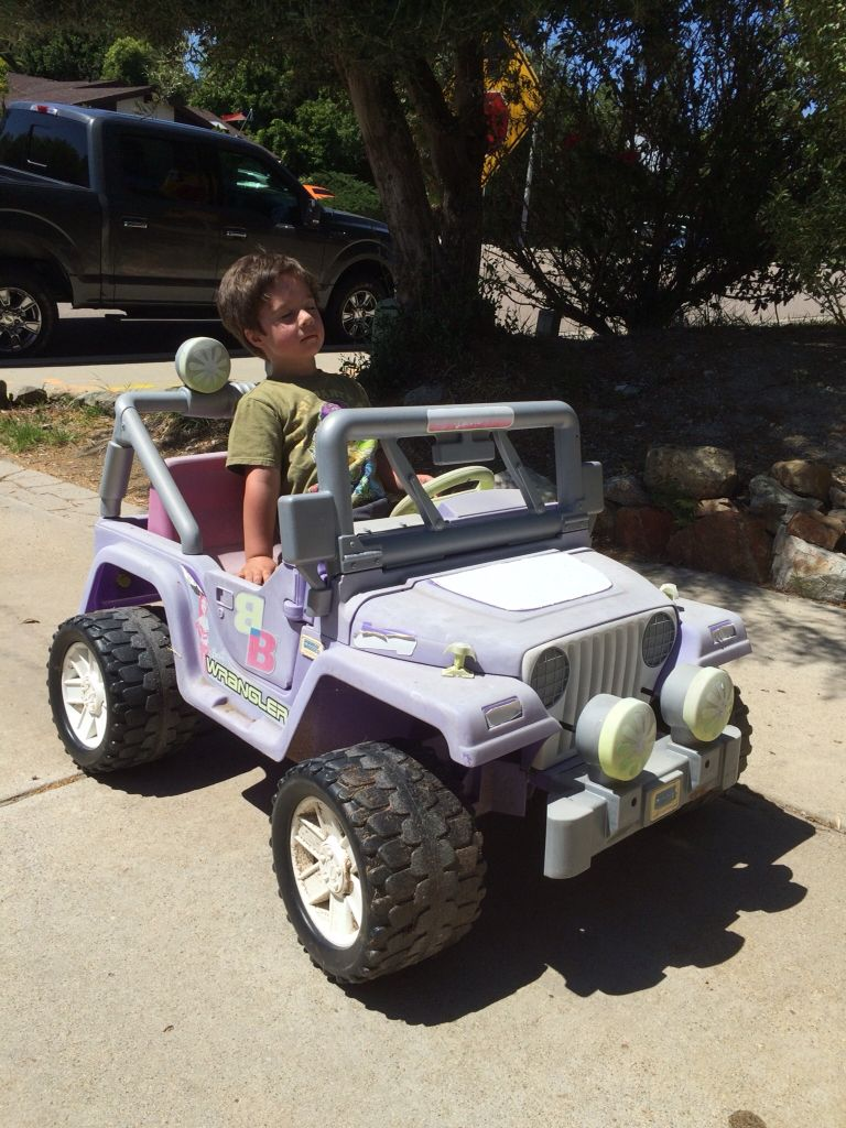Jeep Power Wheels Before Painting I Got This For Free Off Of
