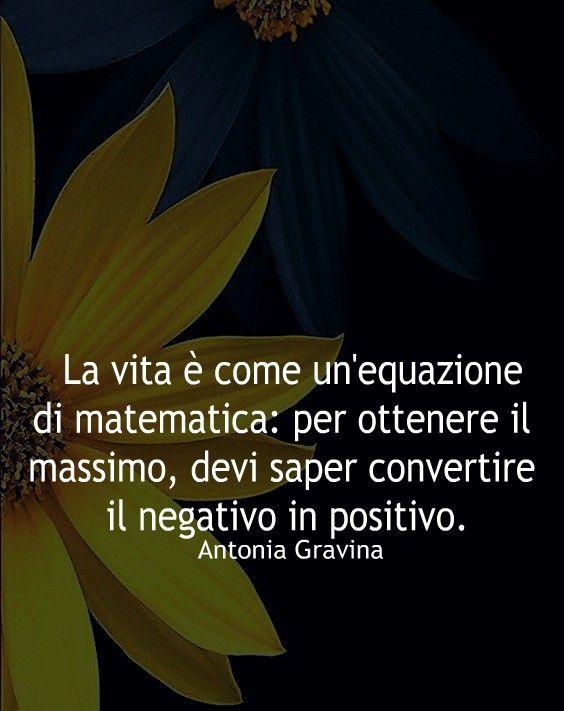 La Vita è Come Un Equazione Di Matematica Per Ottenere Il
