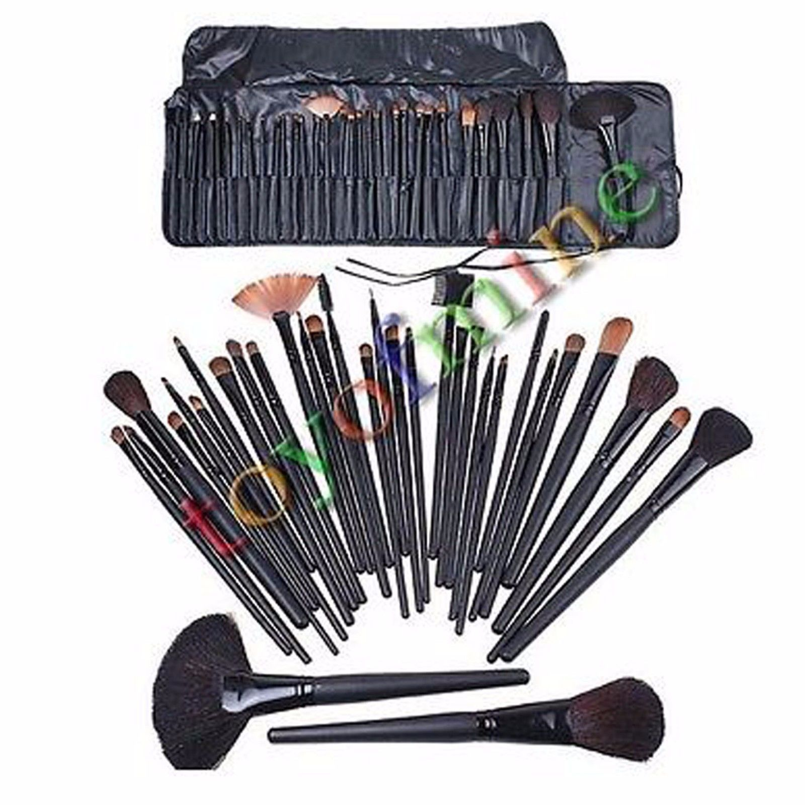 32 Pcs Cosmetic Natural Leather Professional Eyebrow Shadow Makeup