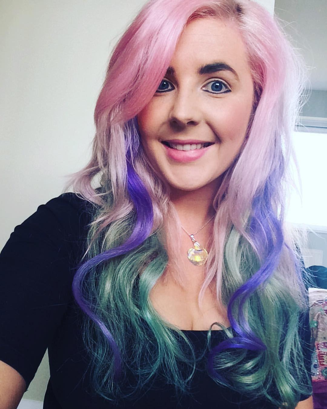 """#rainbowhair #mermaidhair #unicornhair #pastelhair #multicolouredhair"""""""