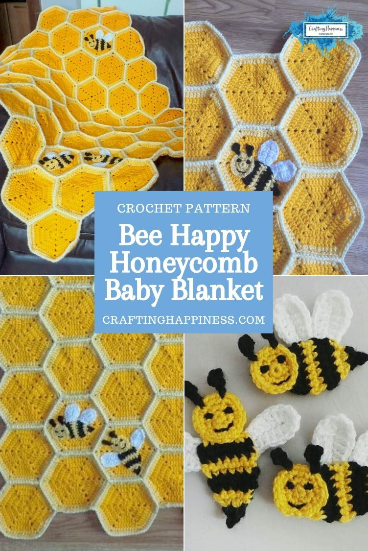 Bee happy baby blanket is a beautiful baby