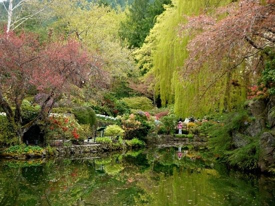 Ponds in the Sunken Garden, Butchart Gardens