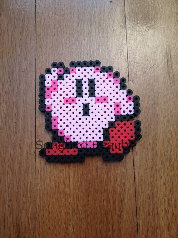 Kirby Perler Beads jeu vidéo drôle 8 bits aimant par SongbirdBeauty ...