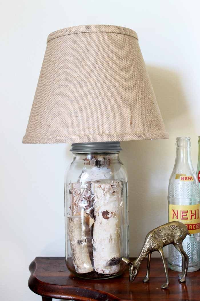 Mason Jar Table Lamp How To Make Your Own Diy Mason Jar Lights Diy Table Lamp Jar Table Lamp