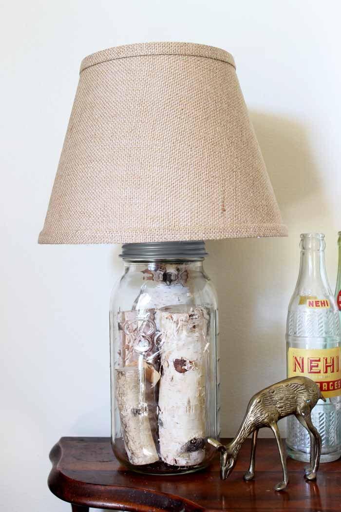 Mason Jar Table Lamp How To Make Your Own Diy Mason Jar Lights