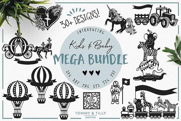 Over 30 Designs Kids Baby Mega Bundle Svg Dxf Png Eps Siluet