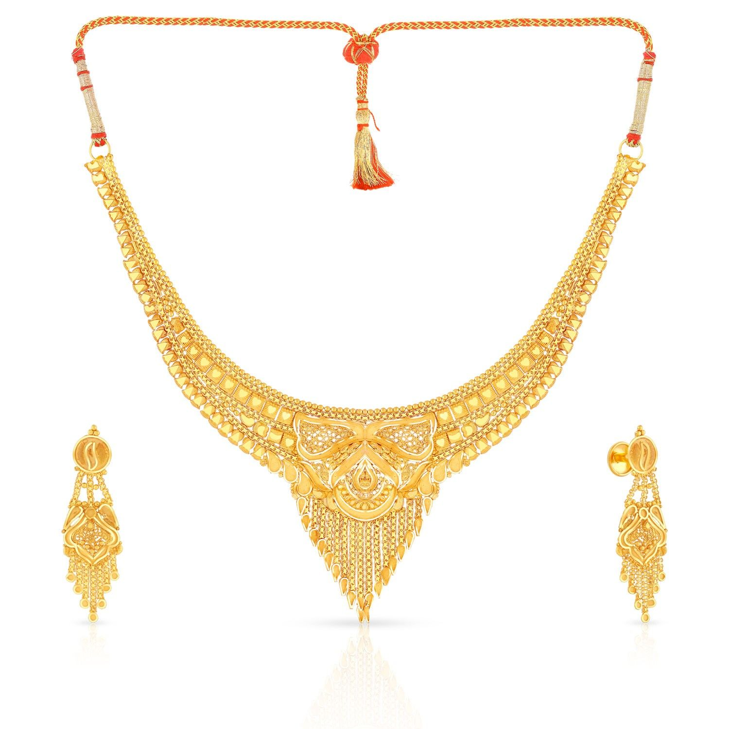 Malabar Gold Necklace Set MHUPNPDRUE | gold as tradition ...