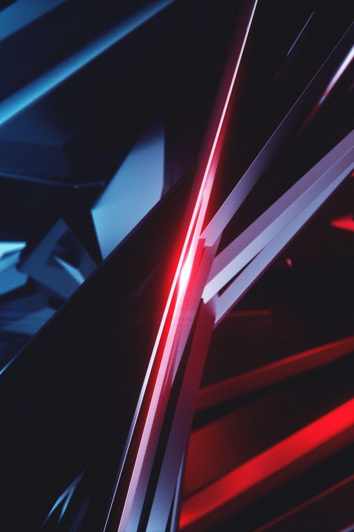 Blue Vs Red Pattern Dark Abstract 720x1280 Wallpaper Vs