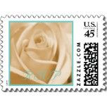 Wedding: Seafoam and Sand  - small postage stamps