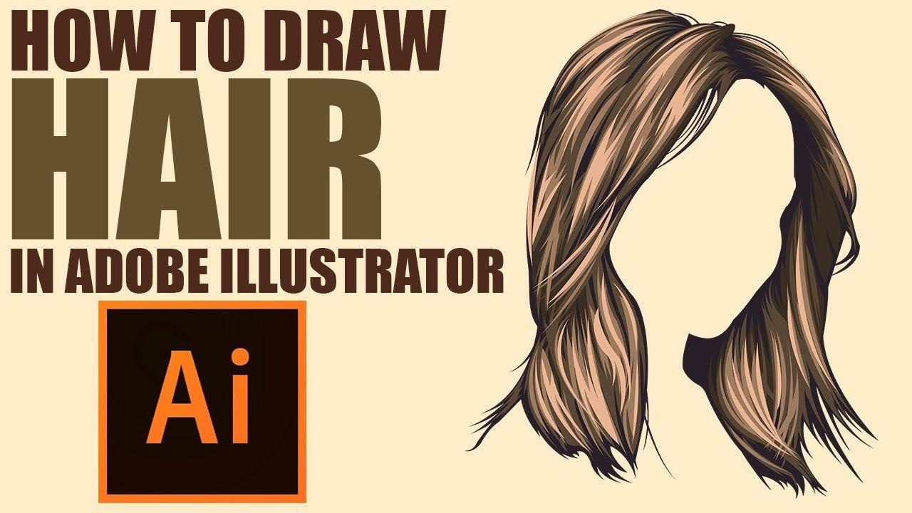 Draw Vector Hair Adobe Illustrator Tutorial Draw Vector Hair In