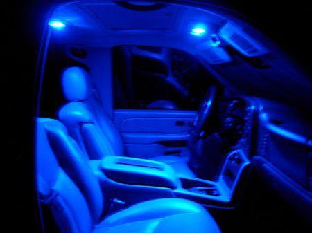 Blue Interior Lighting Avalanche Truck Accessories