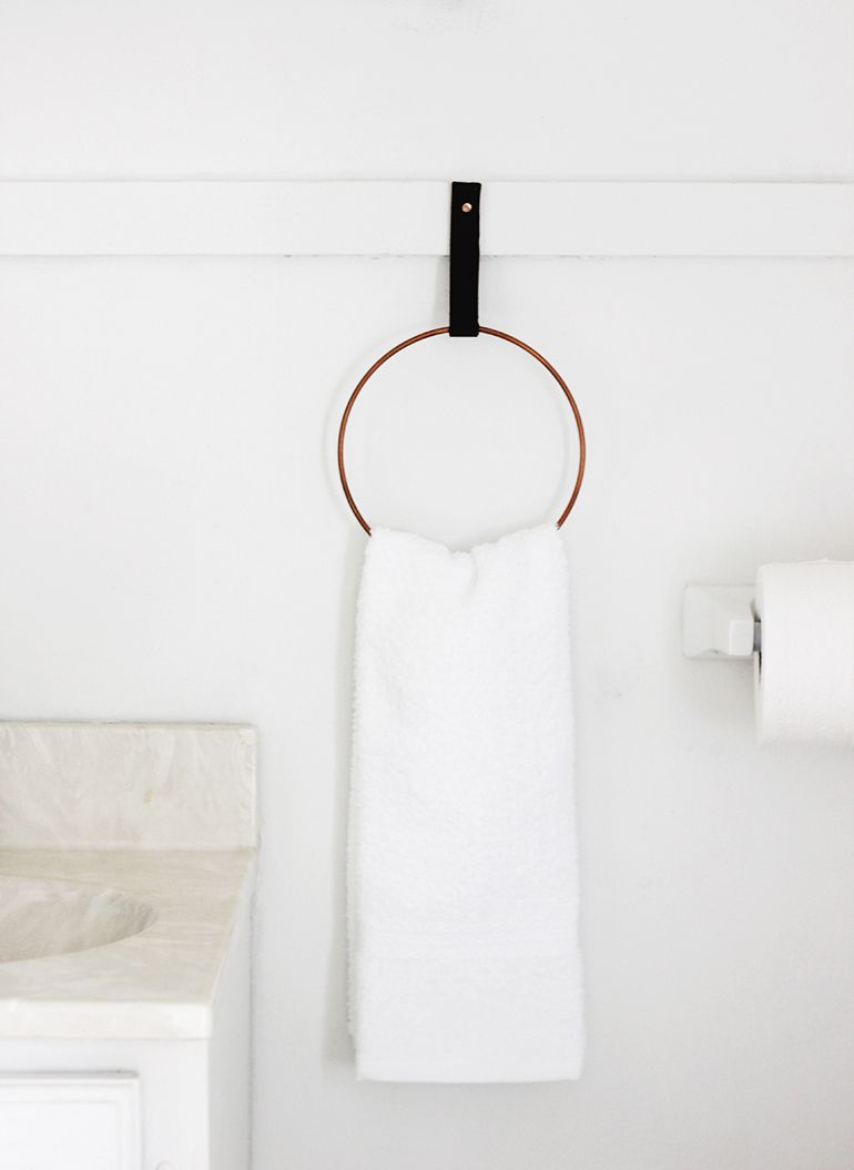 The Design Chaser Bathrooms New Ideas DIY Pinterest Towel - Guest hand towels for small bathroom ideas
