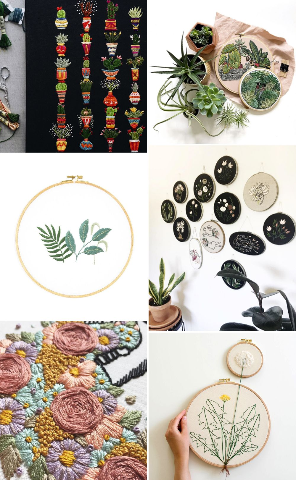 we love Inspiration: Pflanzen Stickbilder | we love handmade