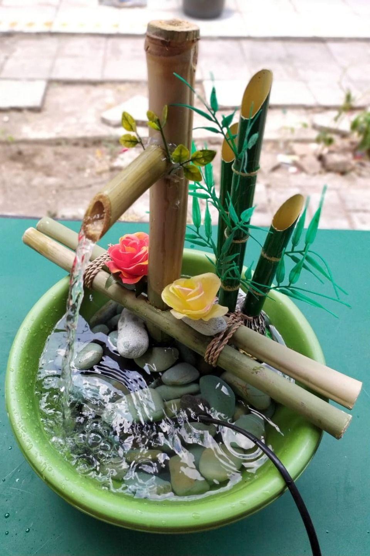 Cara Membuat Air Mancur Dari Bambu Bambu Air Mancur Air
