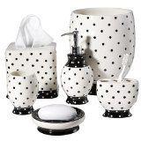 White Polka Dot Bathroom Accessories