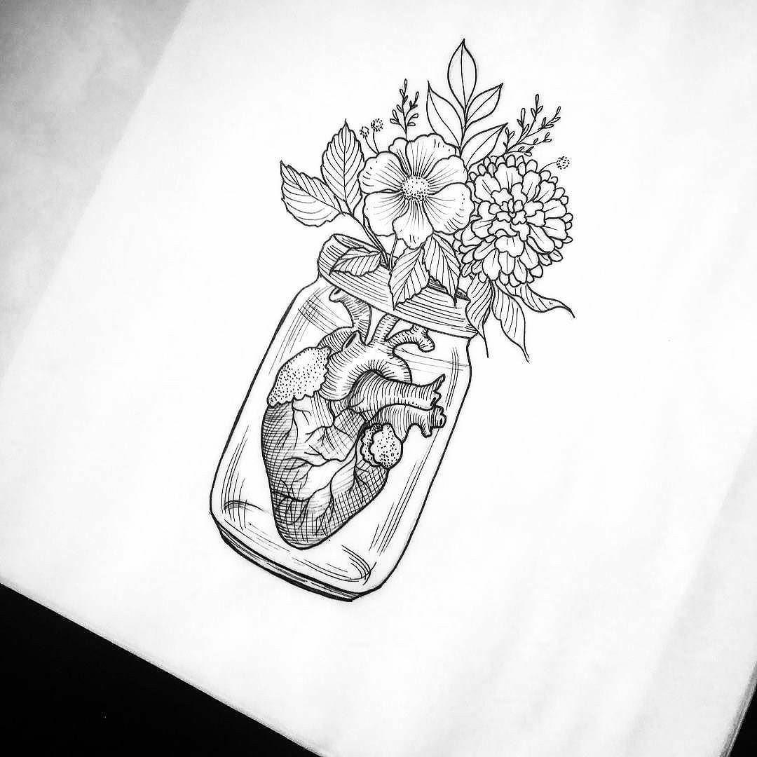 Corazon Flores Ilustraciones Pinterest Dibujos De Corazones