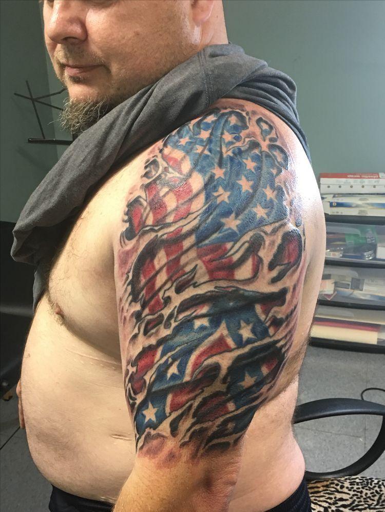 Pin On American Flag Tattoo