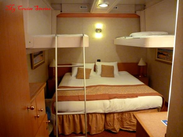 Inside Cabin With Two Drop Down Bunks Cruise Ships Cruise Ship