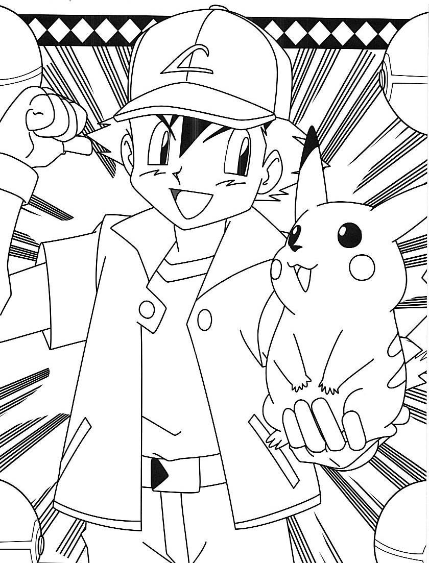 Ash And Pikachu Coloring Jpg Image Pokemon Coloring Pages Pokemon Coloring Pikachu Coloring Page